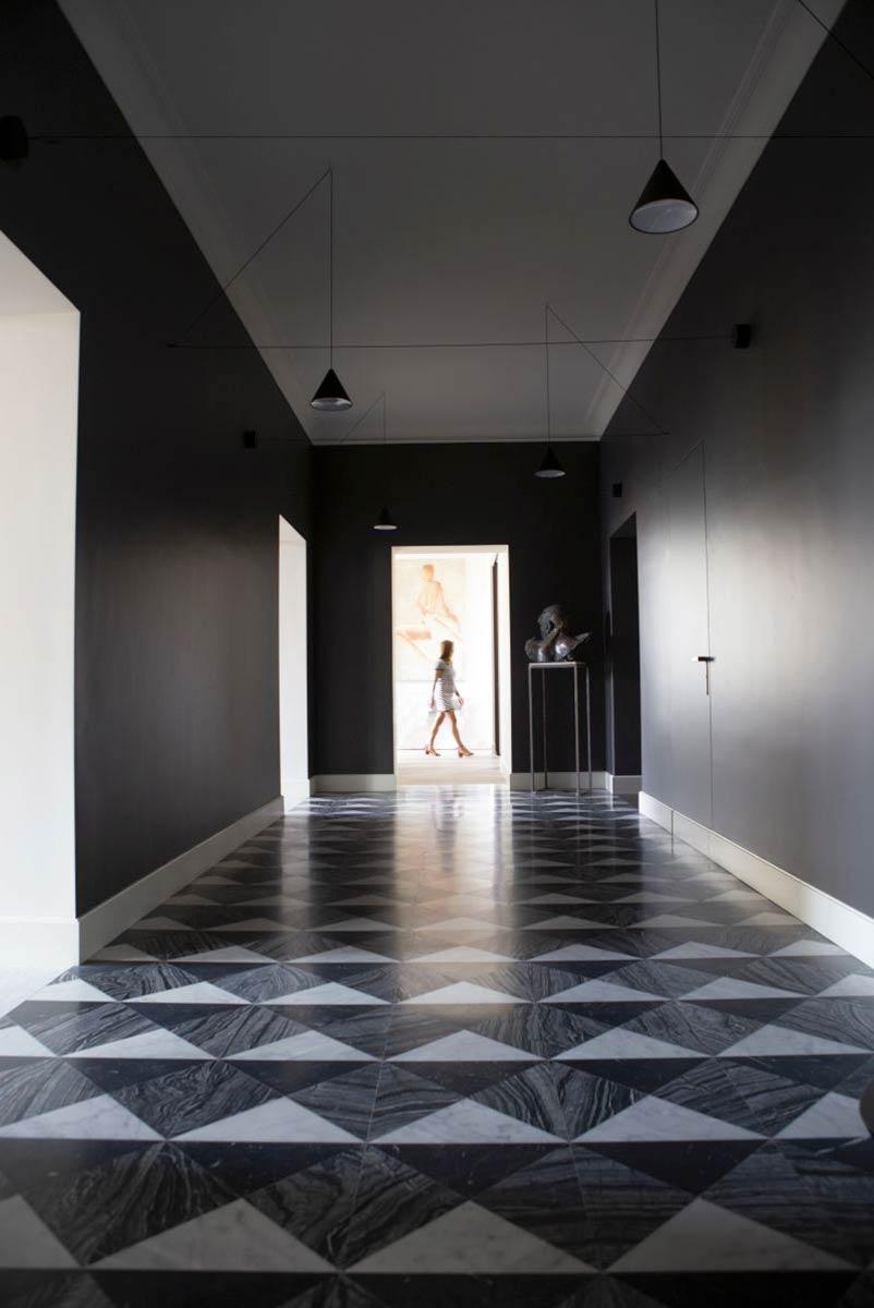 pavimento in marmo corridoio