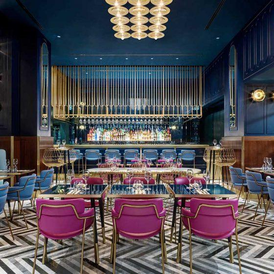 pavimento ristorante in marmo