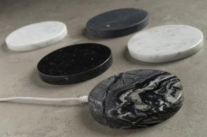 Carica batterie wireless in marmo Lux Pod